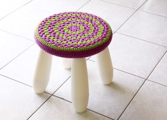 Stool cover nursery decor granny stool cover mandala stool etsy