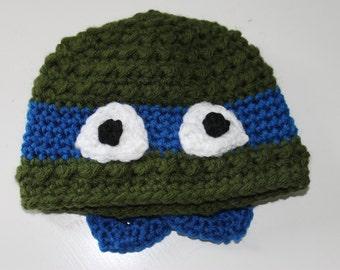 bce6200c02a Crochet PATTERN Ninja Turtle Newsboy AND Beanie Hat Pattern