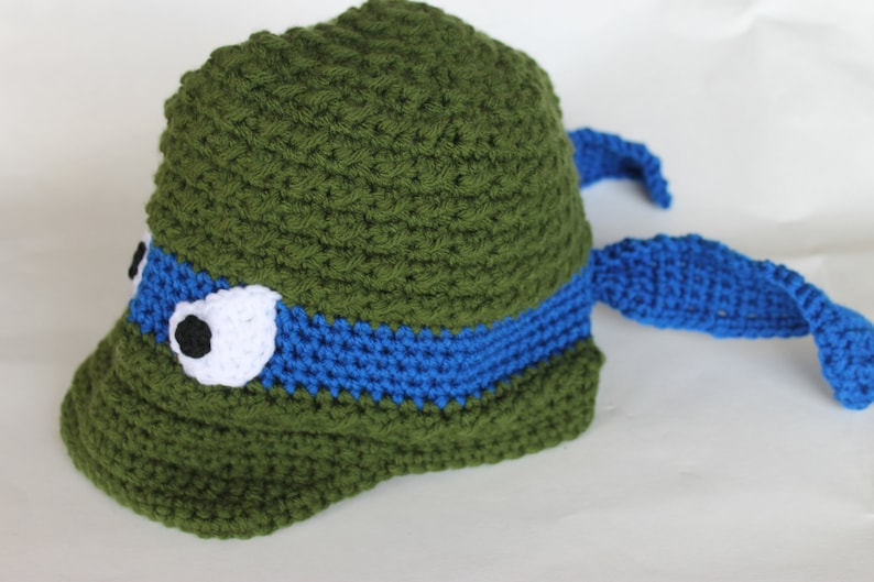 596a685b0e1 Crochet Ninja Turtle Newsboy Hat Warm Ninja Turtle Costume