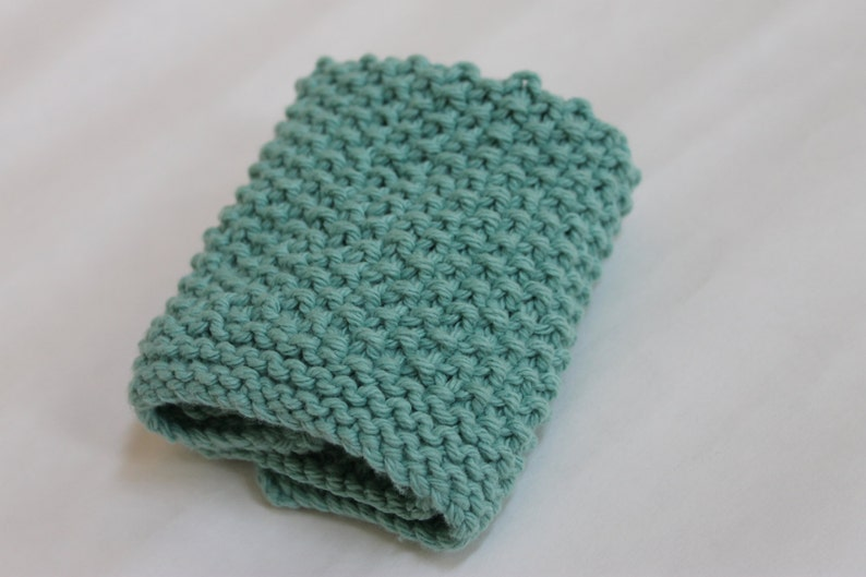 Knit PATTERN Simple Seed Stitch Dishcloth Instant Download ...