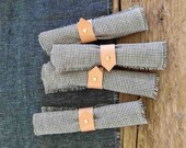 JoJo Fletcher x Etsy, napkin rings in leather and brass