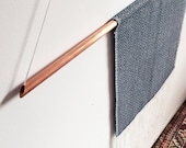 Tapestry 002 - navy blue and copper diamond hand made weaving collaboration with Rebecca Daryl