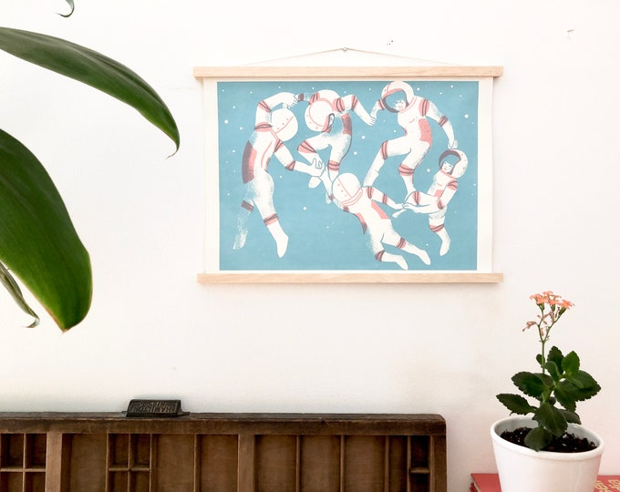 Poster Hanging Frames: minimalist magnetic recycled wood hanging frames for art prints