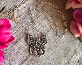 Frenchie Sugar Skull Necklace