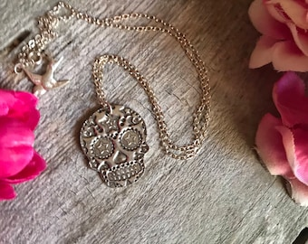 Star Sugar Skull Necklace