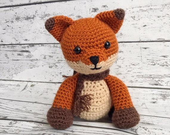 Rusty  the Fox, Crochet Fox Stuffed Animal, Red Fox Amigurumi, Plush Animal