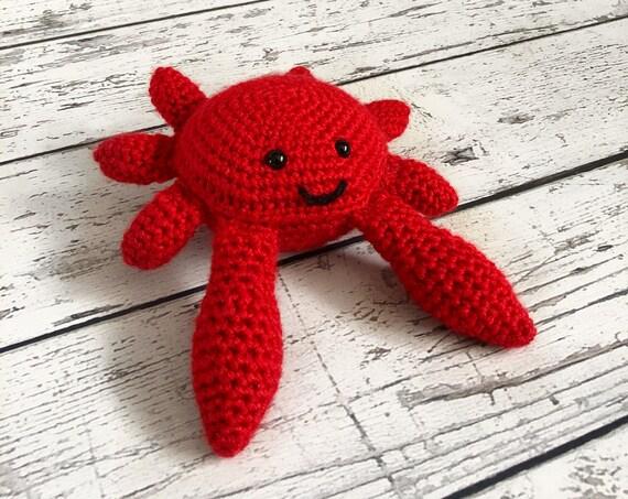Carl the Crab, Crochet Crab, Ready to Ship