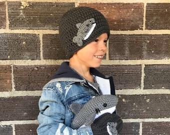 Shark Hat, Crochet Shark Animal Hat, Children's Hat, Made to Order
