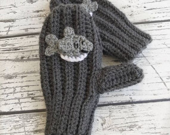 Shark Mittens,  Made to Order