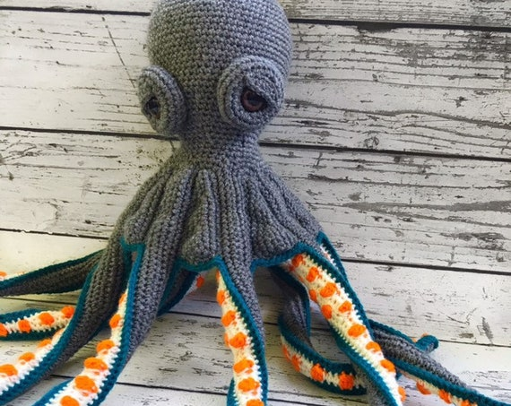Jax the Octopus, Crochet Octopus Toy, Ready to ship