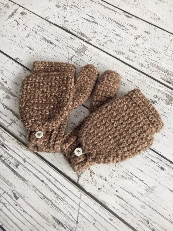 Convertible Texting Mittens, Glittens, Winter Gloves, Mittens, Ready to Ship