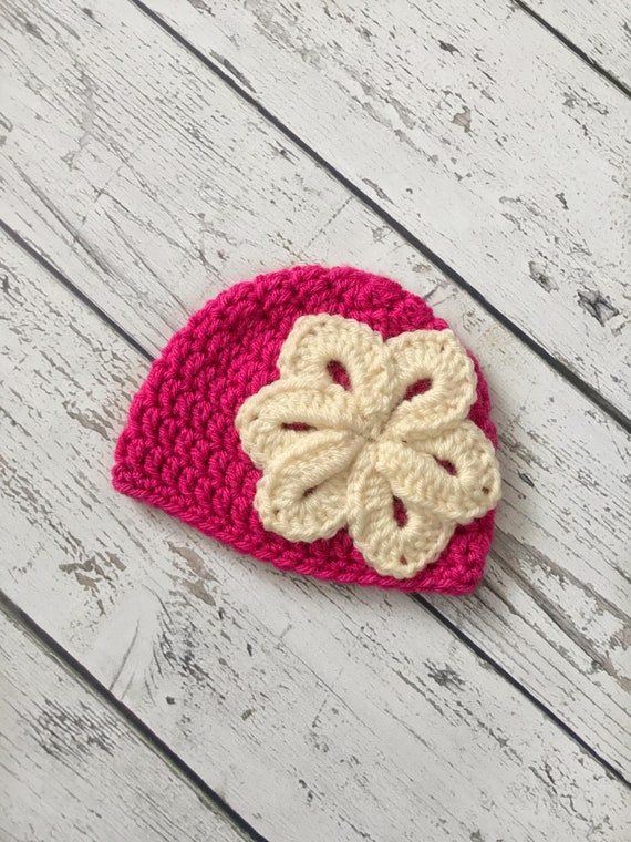 Crochet Flower Hat, Made to Order