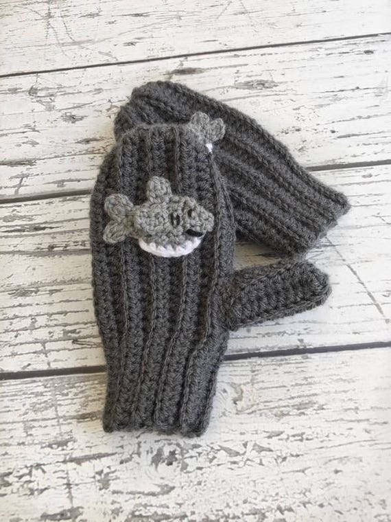 Hai Handschuhe Häkeln Hai Tier Handschuhe Kinder Handschuhe Etsy
