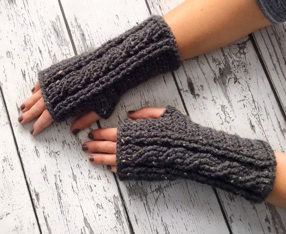 Fingerless Mittens, Womens Crochet Mittens, Fingerless Gloves,  Ready to Ship