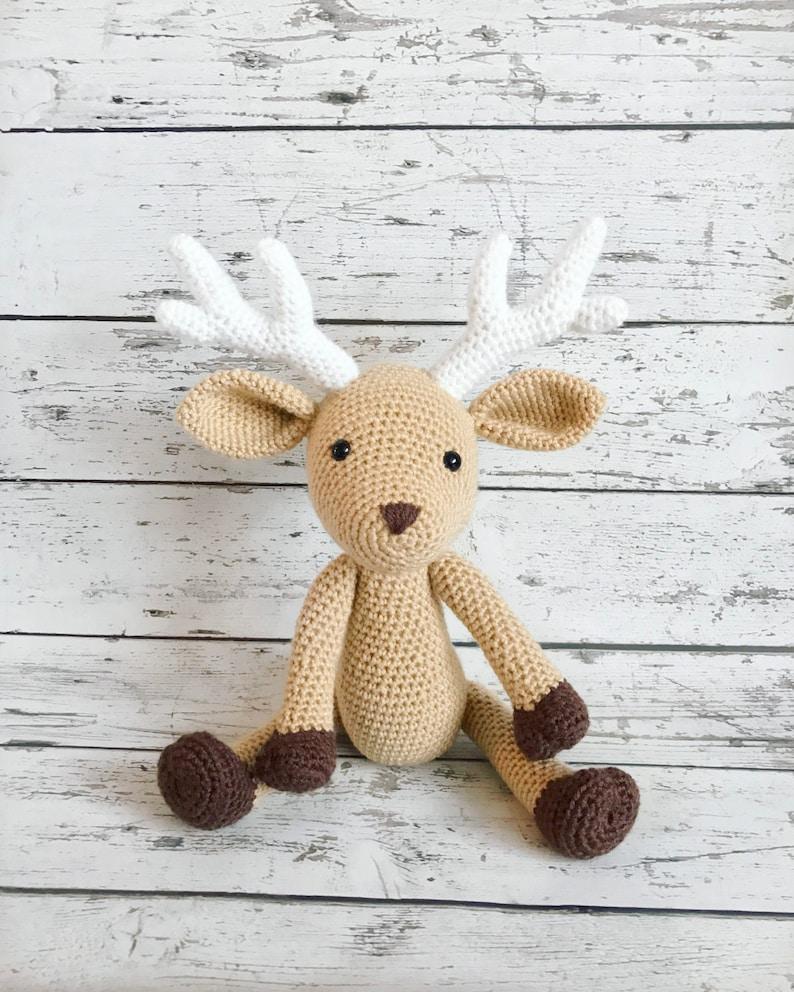 Daryl the Deer Crochet Deer Stuffed Animal Deer Amigurumi image 0