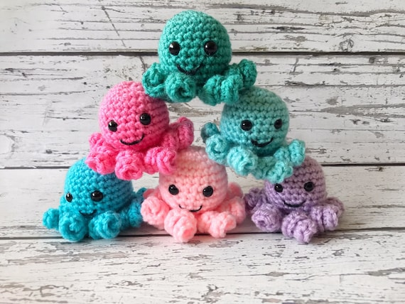 Mini Octopus, Crochet Octopus, Ready to ship