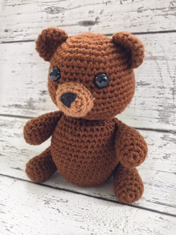 Luka the Baby Bear, Crochet Bear Toy, Teddy Bear, Ready to Ship