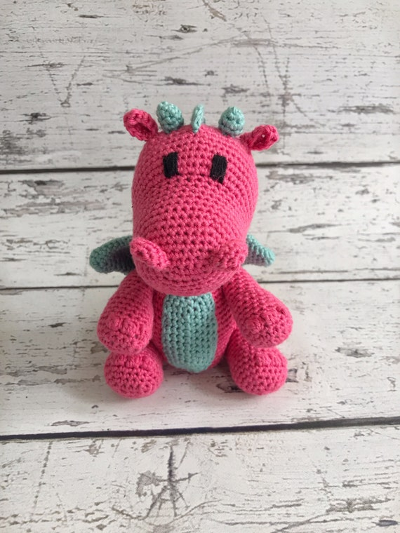 Mini Dragon, Crochet Dragon, Stuffed Animal, Dragon Amigurumi, Plush Animal, Ready to Ship