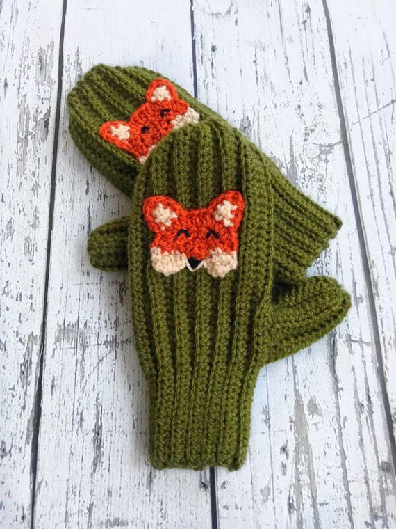Fox Mittens, Made to Order