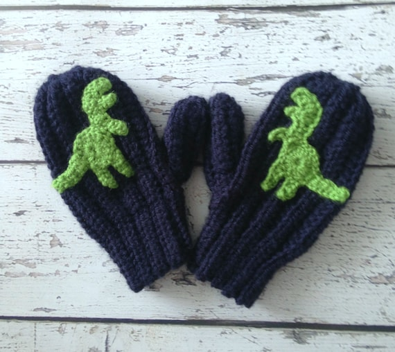 Dinosaur Mittens, Made to Order