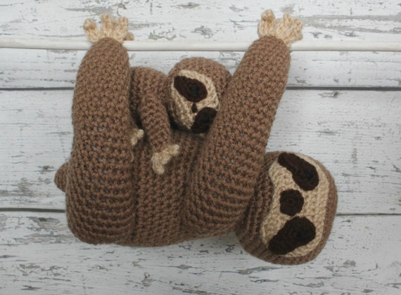 Luna the Sloth and Baby, Made to Order