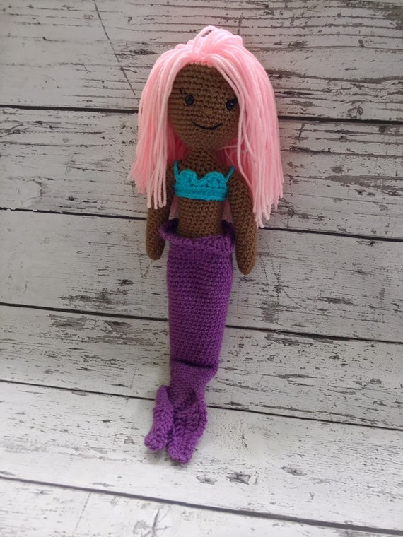 Stuffed Mermaid Toy,  Ready to Ship