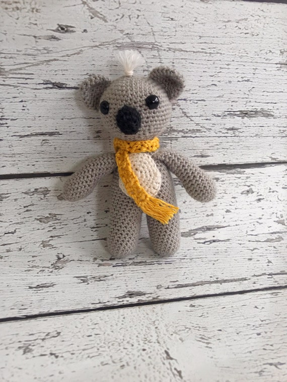 Kiwi the Mini Koala, Crochet Koala Bear, Stuffed Animal, Koala Bear Amigurumi, Plush Animal, Ready to Ship