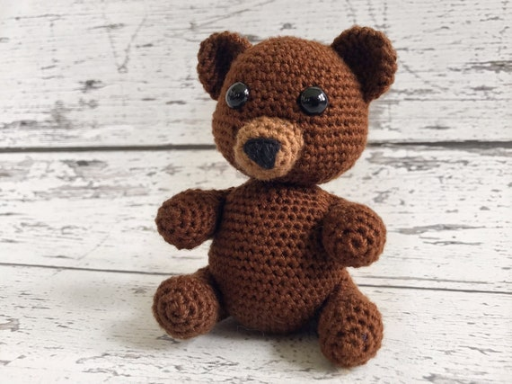 Luka the Baby Bear, Crochet Bear Toy, Teddy Bear, Ready to Ship