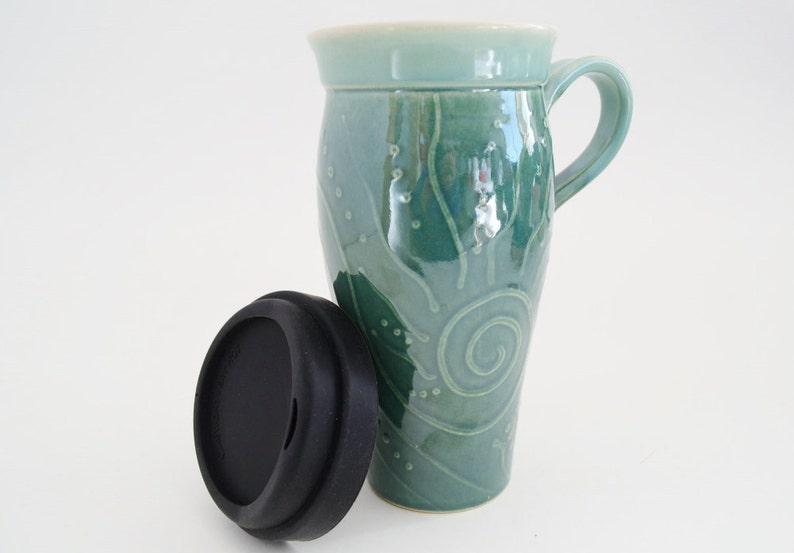 Mug HandleLarge In MugHandle With Lid24 StockCeramic To Oz Travel Go Stoneware Coffee Silicone kPXiwuOZT