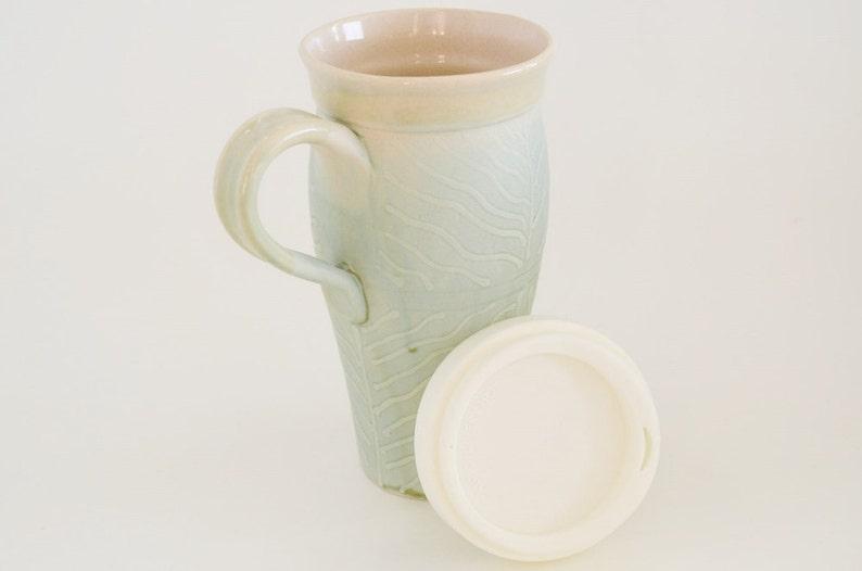 Oz Coffee Stoneware MugHandmade Go Turquoise Silicone HandleLarge To Travel With Lid24 Ceramic Pottery Slip Mug Design tsrCdxhQB