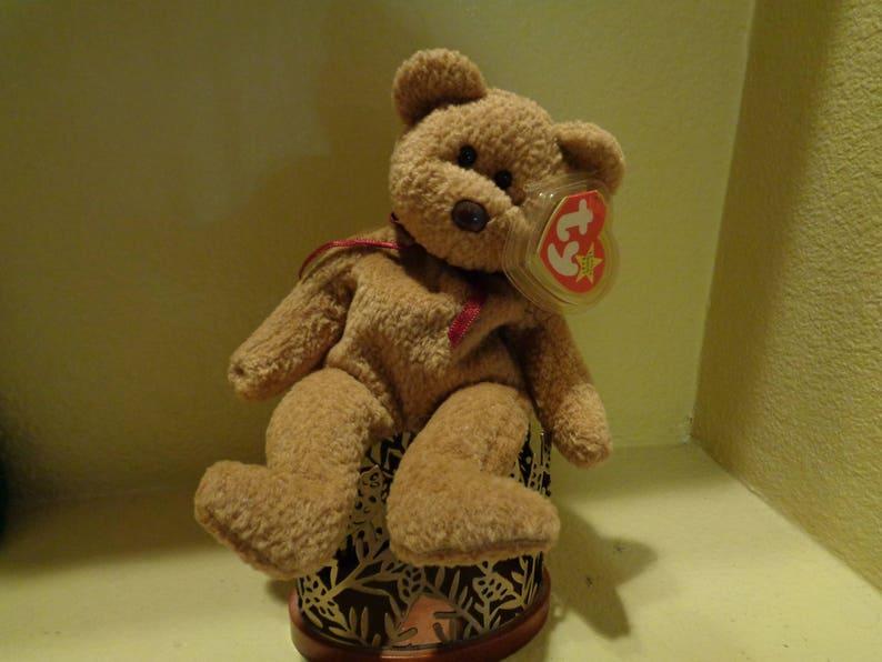 6cf0a479b46 Sweet TY Beanie Baby CURLY Bear
