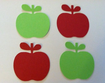 """2"""" apples, paper apples, red and lime green apples, cardstock paper embellishments  (50 count)"""