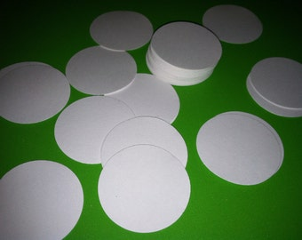 """1.5"""" circles, hand puched cardstock paper embellishments  (40 count)"""