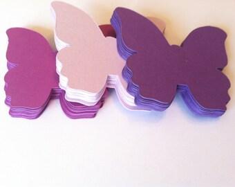 Shades of Purple butterflies, die cut cardstock butterflies  (60count)