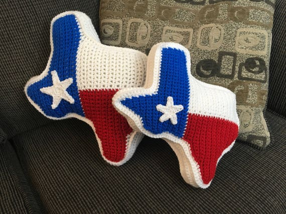 Texas State Flag Pillow Etsy