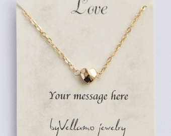Dainty heart gold filled necklace gold filled minimalist heart necklace, cute puffy heart gold dainty jewelry for mother, sister, daughter
