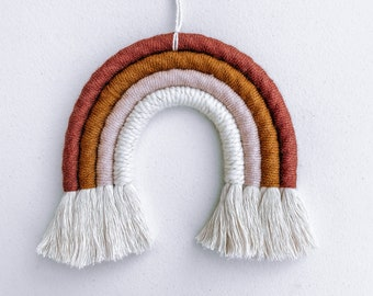 Rainbow Wall Hanging - Spice, Camel, Blush, Ivory