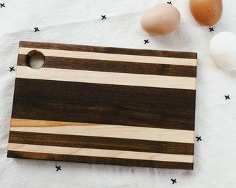 Walnut + Maple Wood Serving Board #17