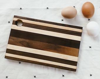 Walnut + Maple Wood Serving Board #16