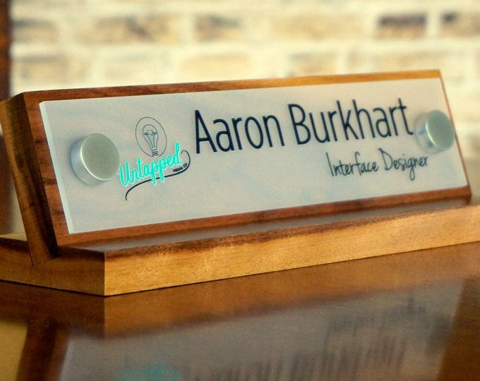 Logo Sign Desk Name Plate Custom and Personalized size 10 x 2.5 Inches
