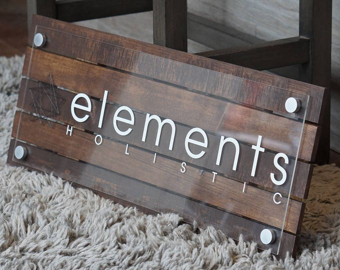 Custom Pallet or Reclaimed Wood Business Sign with Logo 10 x 22 inches