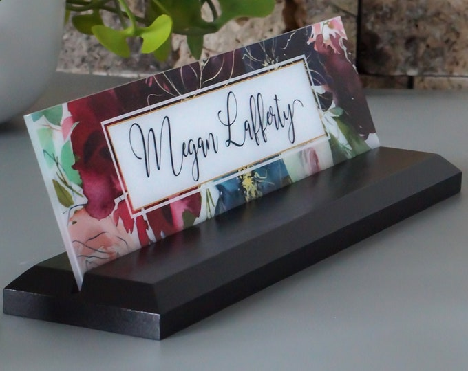 Office Desk Accessories / CoWorker Gift / Desk Name Plate / size 10 x 2.5 inches