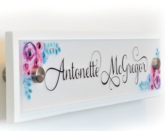 Personalized Door Name Plate Sign Decor - 10 x 2.5 inches - Office Accessories - Wall Name Sign