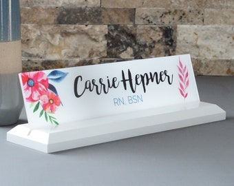 Floral Name Plates