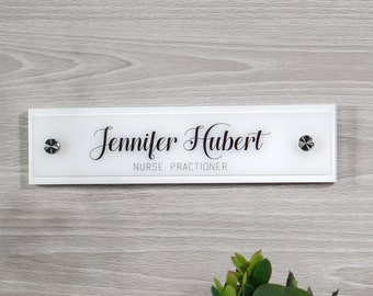 Wall Nameplate Sign Decor / Office Door Sign / 10 x 2.5 inches - Office Accessories - Flush Mount Wall Name Sign