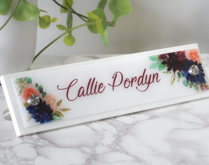 Home Office Furniture and Decor Wood Desk Name Plate 10 x 2.5 inches
