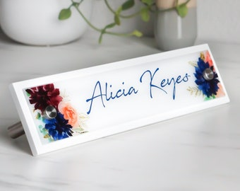Office Accessories Modern Desk Name Plate Work Decor 10 x 2.5