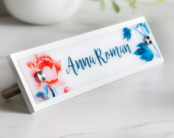 Desk Name Plate, Personalized Office Sign Decor - 10 x 2.5 inches - Office Accessories - Popular Graduation and Christmas Gift Idea