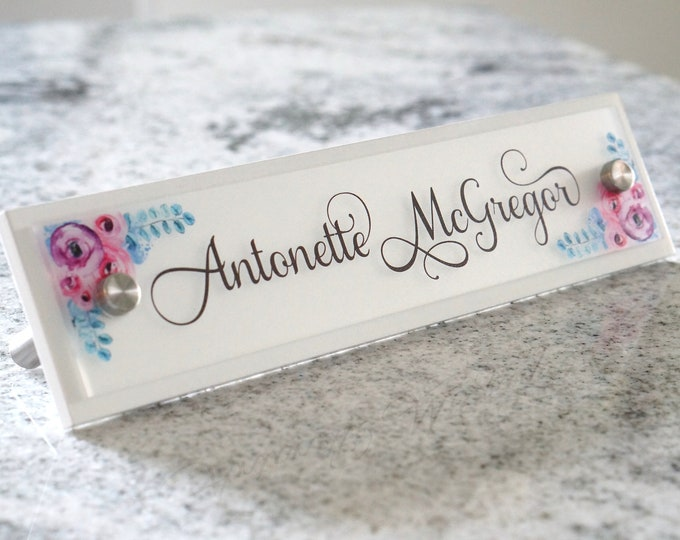 Personalized Desk Name Plate for Sign Decor - 10 x 2.5 inches - Office Accessories - Popular Graduation and Christmas Gift Idea