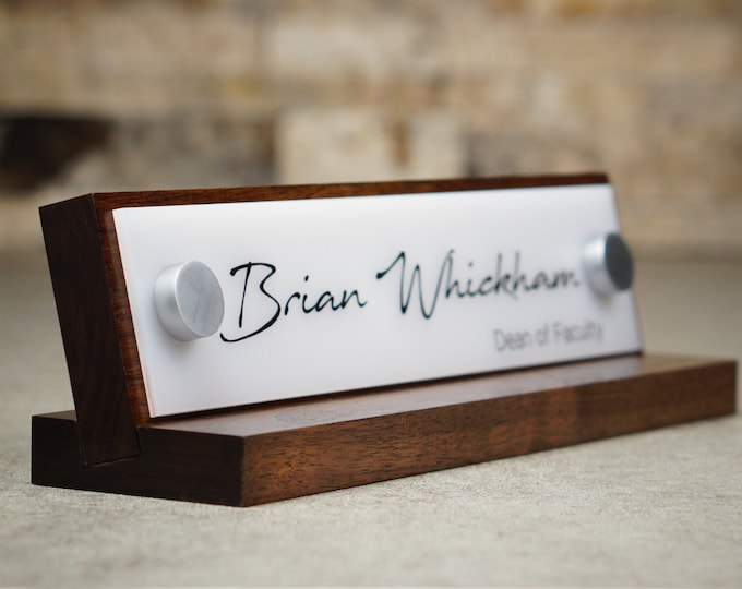 Desk Accessories, Business Sign Decor, Desk Name Plate For Her Birthday Gift 10 x 2.5 inches
